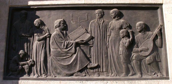 Relief Luther-Denkmal II